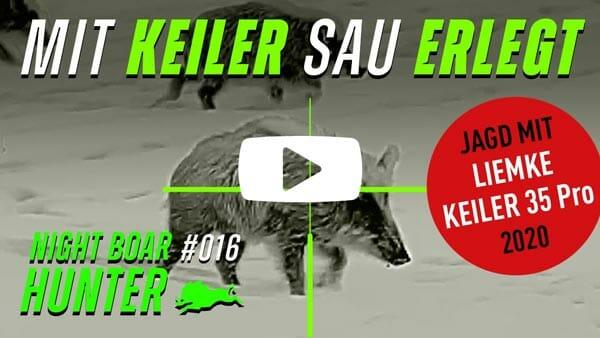 Video Mit dem Keiler eine Schnee Sau erlegt! Ich und der Liemke Keiler-35-Pro-2020